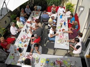 Alle hatten Ihren Spaß beim gemeinsamen Bewohnerfrühstück