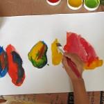 Buntes Treiben beim Kinder-Malwettbewerb