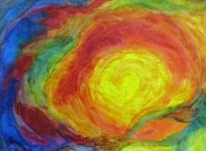 Osterbild - gemalt von einem indischen Kind