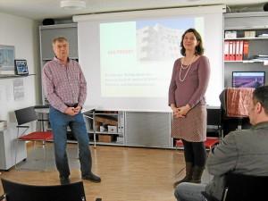Unsere beiden Vorstände präsentieren das Projekt (Foto: Margot Bausewein)