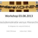 Workshop Nr. 1