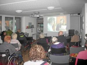 Schnappschuß aus dem Demenz-Vortrag (Foto: privat)