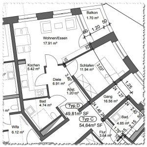 Grundriss Wohnung Typ D