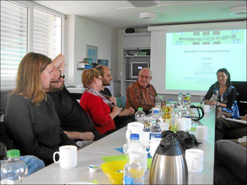 Präsentation für die Besuchergruppe vom »Netzwerk Leipziger Freiheit« (Foto: Gora Ghosh)