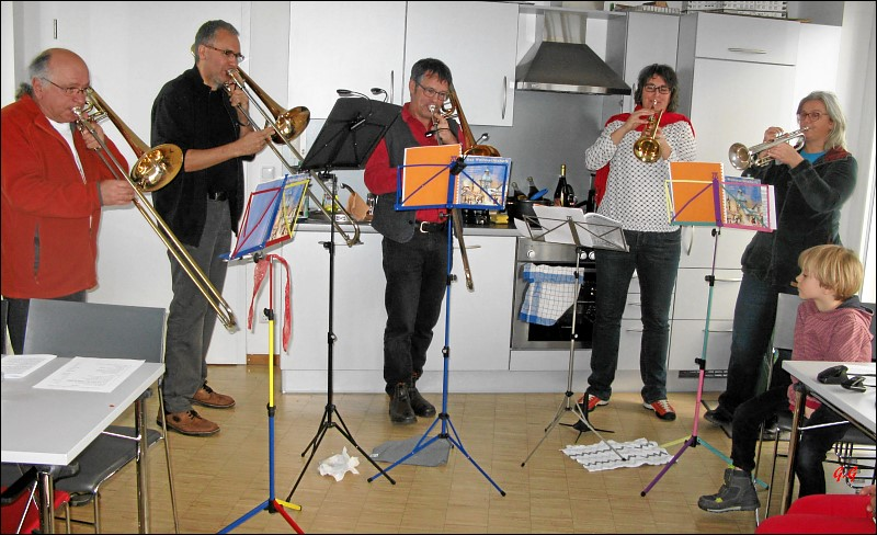Wohnzimmermusikanten (Foto: G. Ghosh)